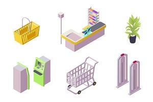 Element of shopping center