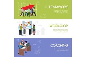 Businesspeople teamwork infographics