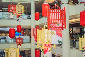 Chinese red lanterns for the Chinese