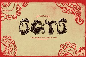 Octo - Handcrafted Octopus Font