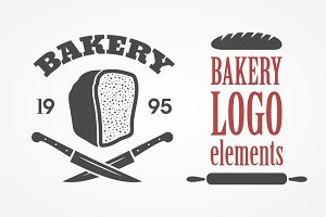 Bread and bakery logo elements