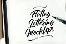 Lettering Mockup Images by  in Product Mockups