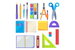 Set of Stationery Objects Compass