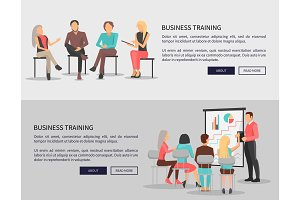 Business Training for Workers Vector