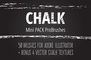 Mini Pack vector Chalk Brushes