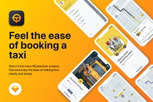 Taxi Booking UI KIT for Sketch App
