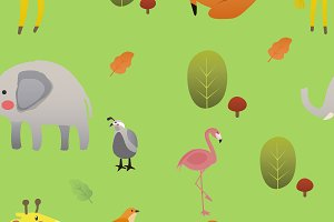 Cute illustration of wildlife animal