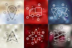 9 navigation timeline infographics