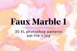 Faux Marble 1: 30 Seamless Patterns