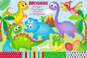 Dinosaur Clipart & Paper