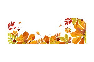 Autumn abstract background with