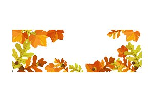Autumn background with space for