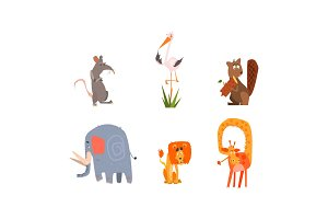 Collection of funny forest and
