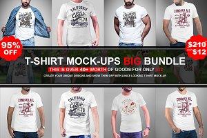 Mans Tshirt Mock-up Mega Bundles