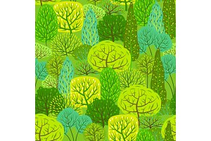 Spring or summer seamless pattern