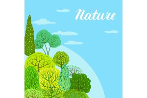 Spring or summer background with