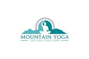 Meditation Yoga with Mountain logo