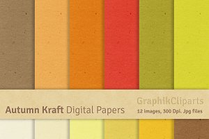 Autumn Kraft Digital Papers