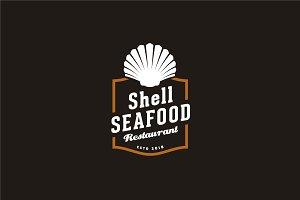 Vintage Retro Shellfish Oyster Logo