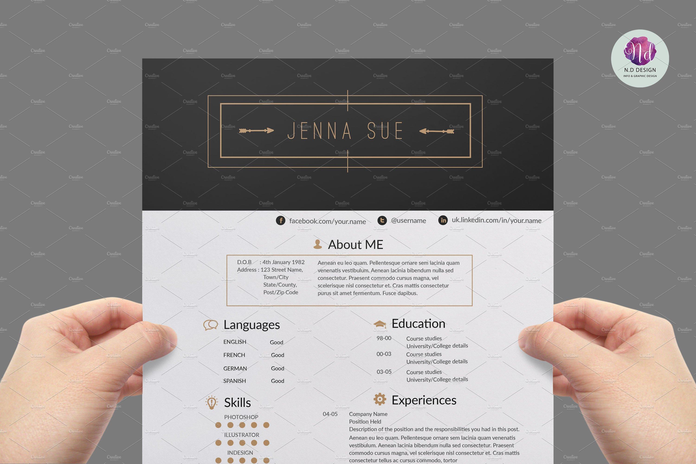 Modern resume template ~ Resume Templates ~ Creative Market