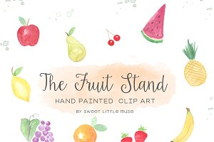 Watercolor Fruit Clip Art