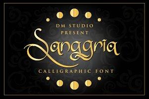 Sanggria - Calligraphic Font + EXTRA