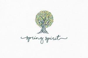 Spring Spirit Logo Template