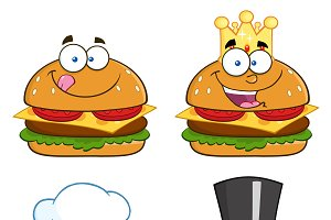 Hamburger Characters Collection Set