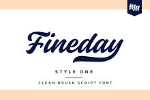 Fineday - Style One by  in Script Fonts