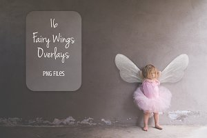 Wings fairy overlay. Magic clip art.