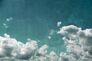 Textured cloudy sky