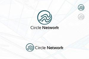 Circle Network Tech Computer Logo