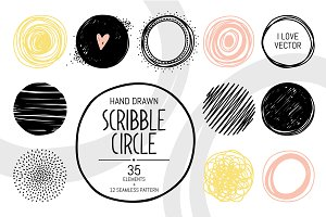 Hand Drawn Vector Circle Decorations