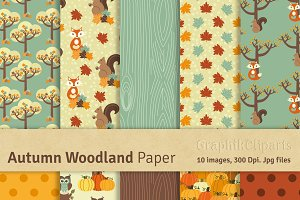 Autumn Woodland Digital Papers