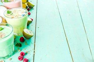 Refreshing milkshakes or smoothies