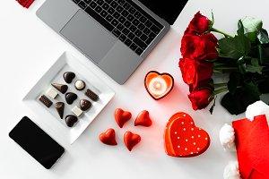 Flatlay Background Valentine's Day