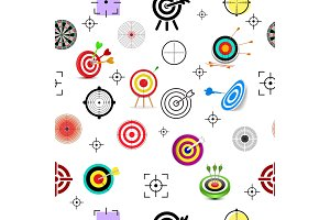 Target icon vector arrow in aim of