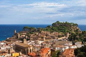 Town of Tossa de Mar in Spain