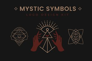 Mystic Symbols. Logo Design kit.