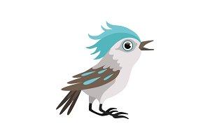 Beautiful blue jay bird vector