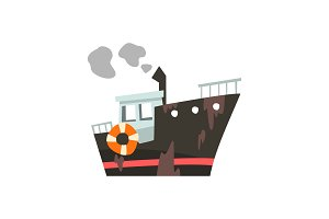 Industrial trawler for seafood