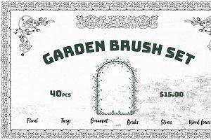 Garden Set Brushes Ornaments