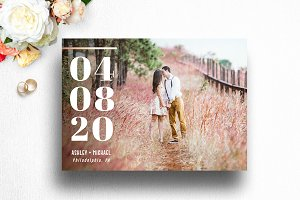 Save The Date Photo Card | 002