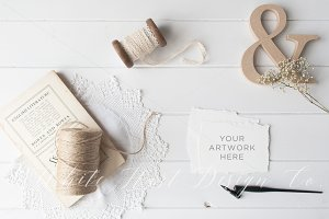 Wedding styled stationery mockup