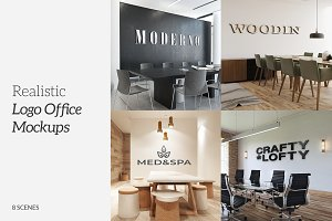 3D Logo Office Mockups