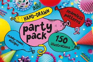 Hand-drawn Party Pack