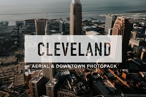 Cleveland, OH Aerial City Photopack