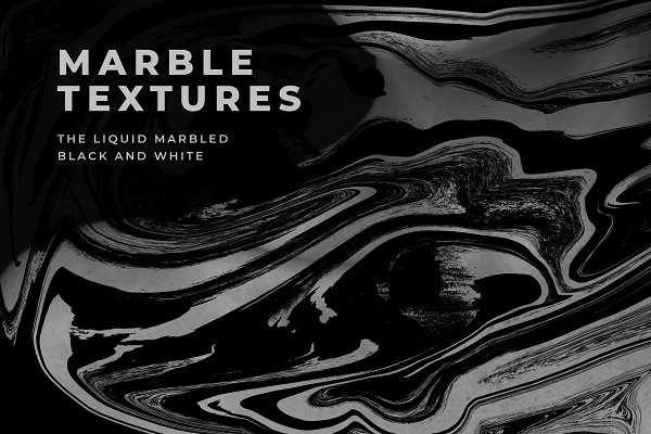 Textures: Noiresor - The Liquid marbled black and white
