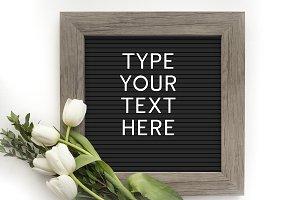 Letter Board Mockup - Font Included!