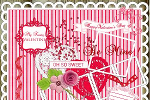 20 Love Letters Elements/ Clipart